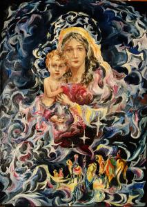 Юсупова Ильмира - Таинство Рождества_холст_масло_50х70