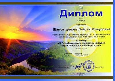 Шамсутдинова Л - 3 место